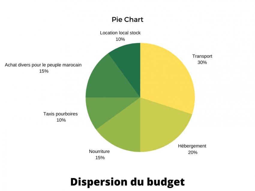 Prévisionnel que la distribution du budget