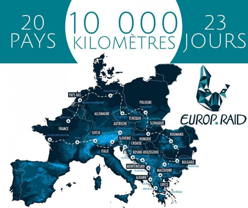 Carte Europe Raid.Globe Dreamers Raid Humanitaire Une Entraide Solidaire A